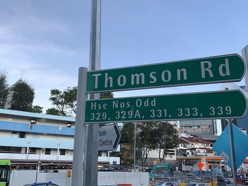 Street Name Thomson Road Novena for Peak Residence Condo